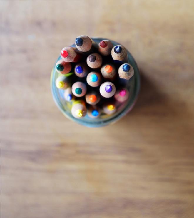 color pencils in a jar-low