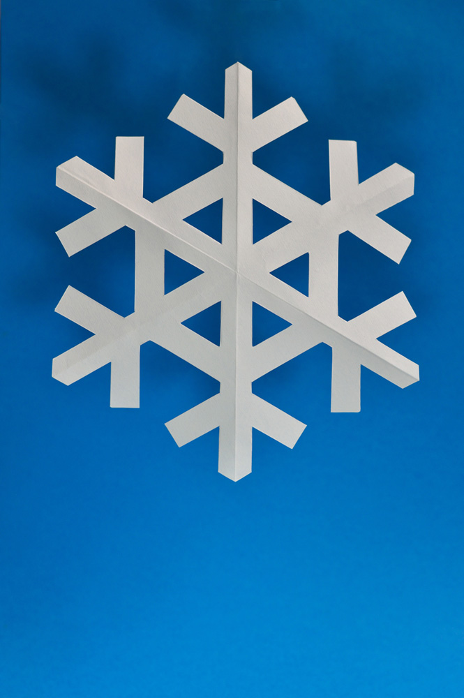 snowflake with blue background