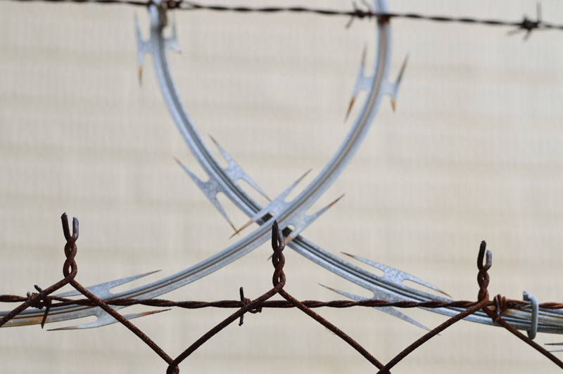 barbed wire close up
