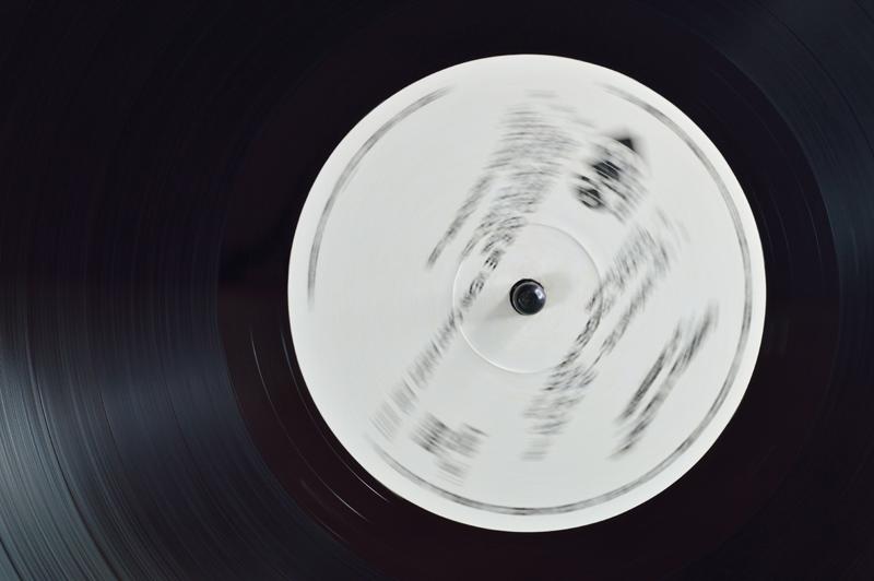 115. Vinyl disc detail