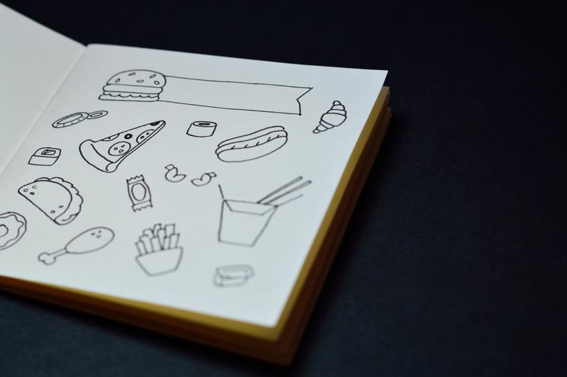 fast food drawings