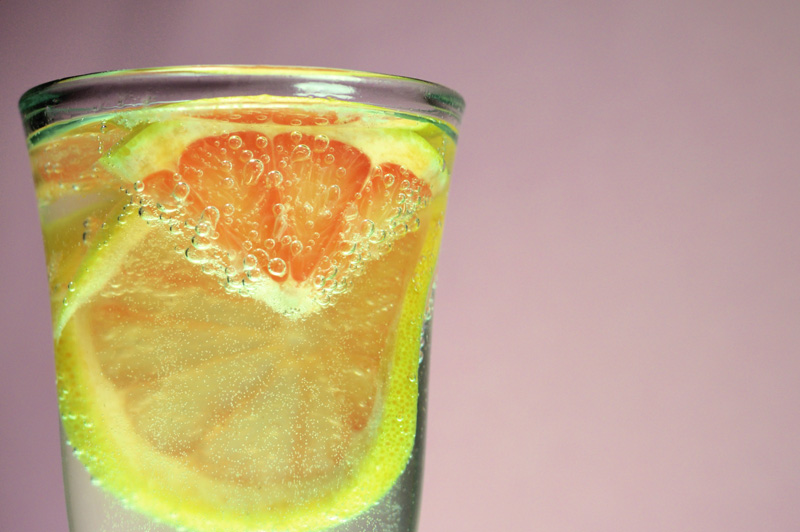 grapefruit and mineral water