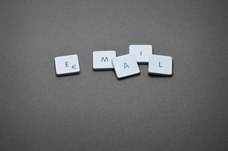 Keyboard keys on gray surface.