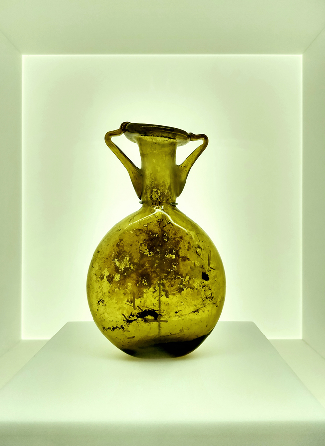 Levant glass jar E-low