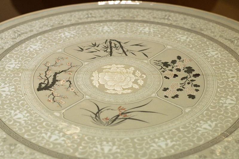 detail of asian table-low