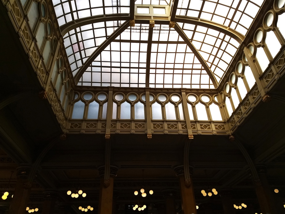 dome of postal palace of mexico city B