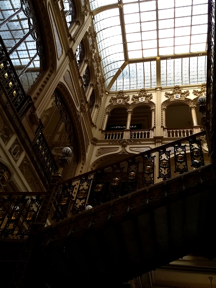 dome of postal palace of mexico city A