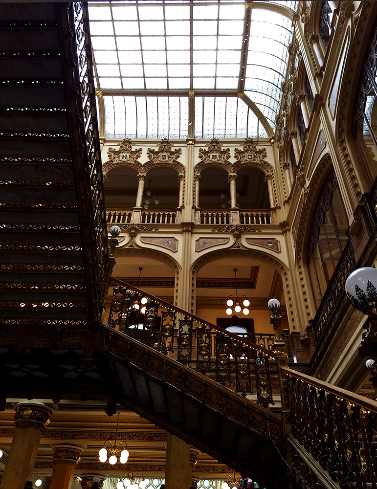 stairs of postal palace of mexico city B