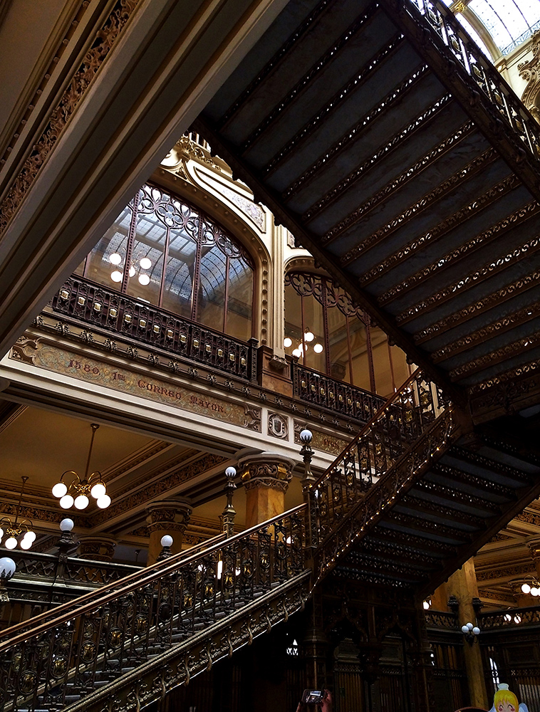 stairs of postal palace of mexico city C