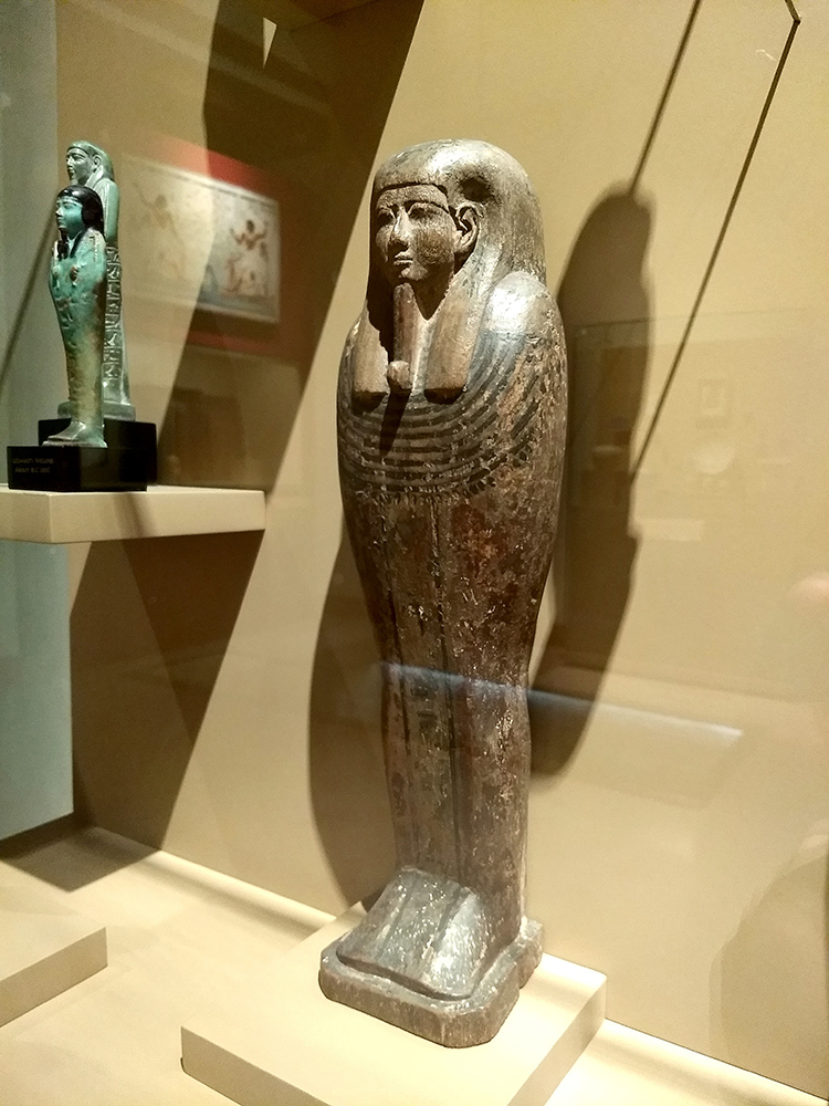 egyptian wooden figure of sarcophagus