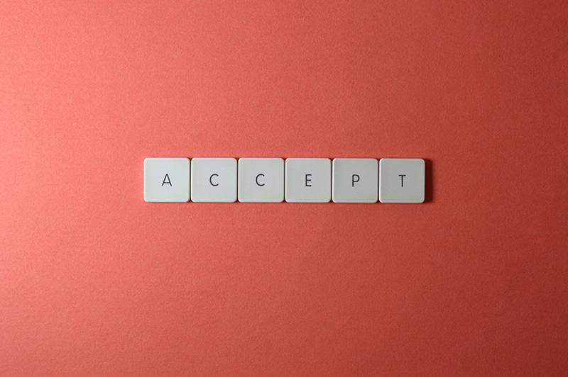 keyboard keys accept