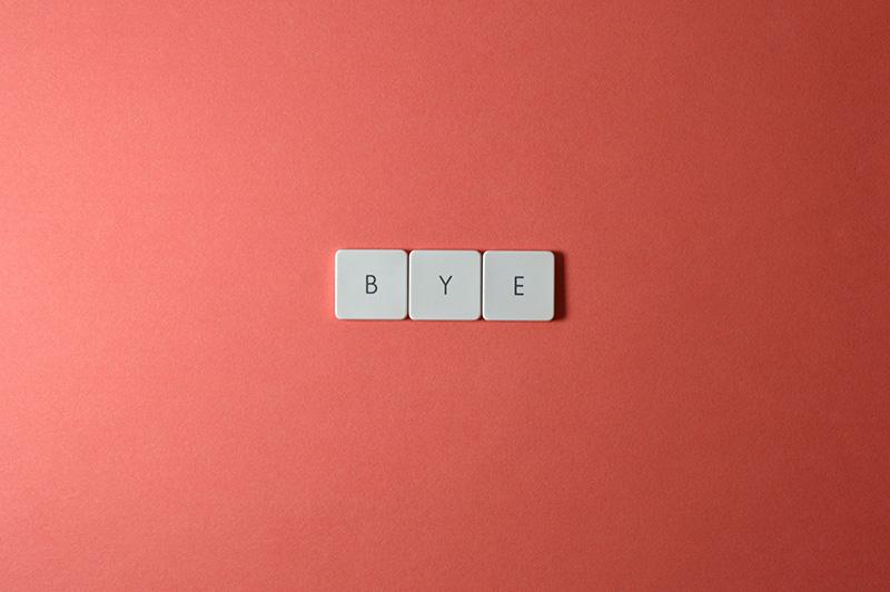 keyboard keys bye