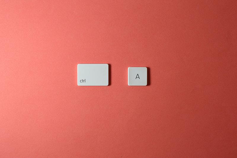 keyboard keys ctrl a