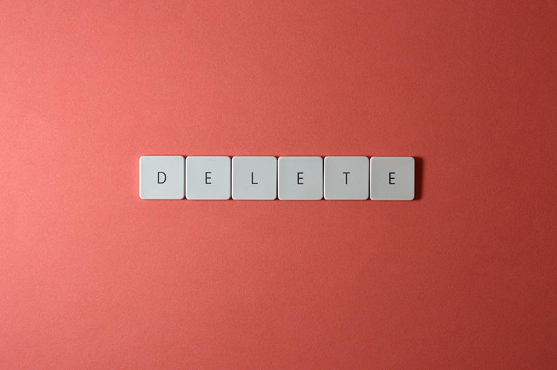 keyboard keys delete