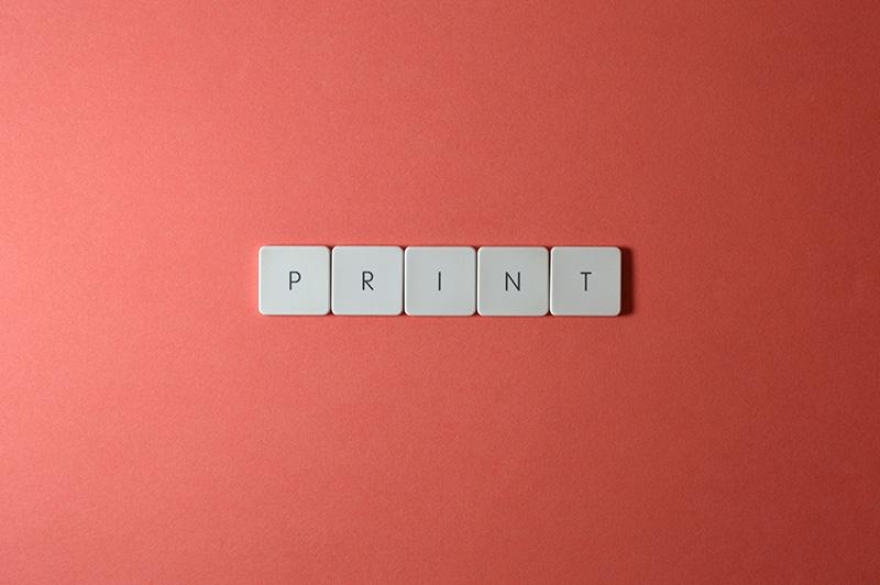 keyboard keys print