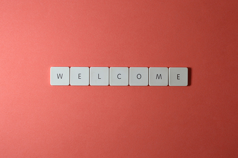 keyboard keys welcome